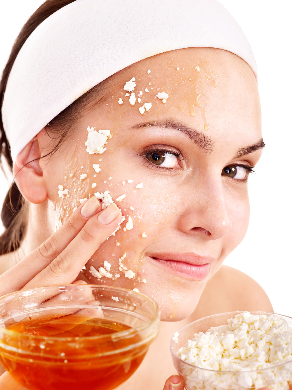 Natural homemade organic  facial masks of honey.