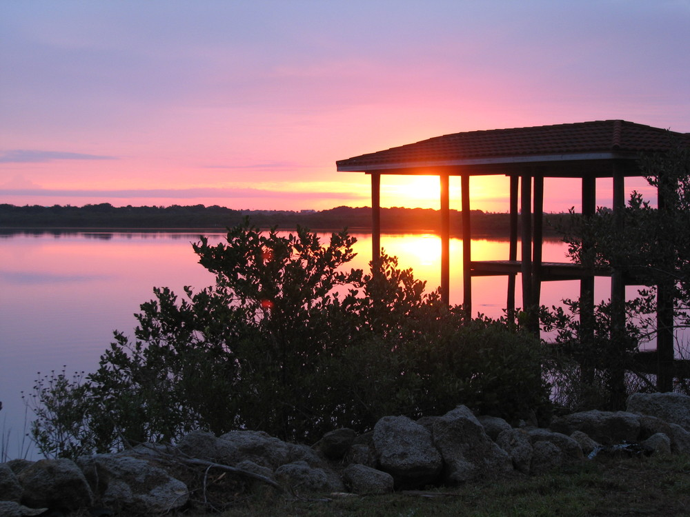 Early morning sunrise along the intracoastal waterway in Florida.