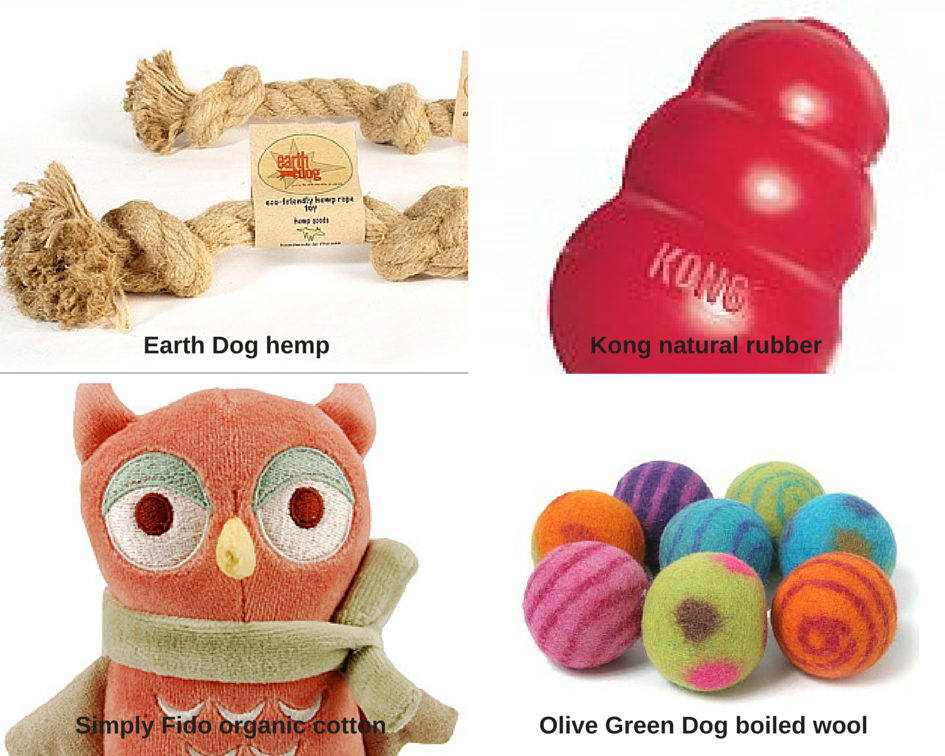 Safe alternatives to toxic pet toys use natural materials.