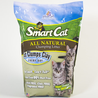 Sustainable kitty litter made from grass seed from Smart Cat.