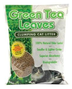 Sustainable kitty litter with green tea leaves from Next Gen.