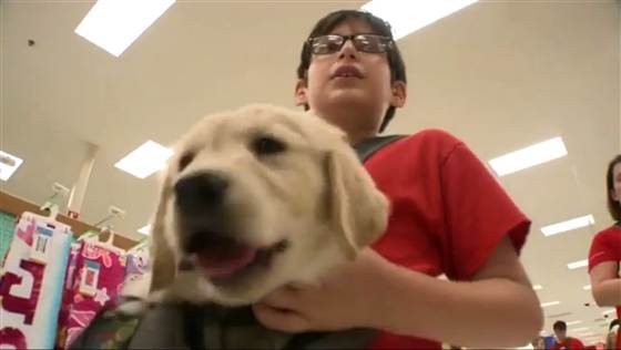 Autistic children find conversation easy when it's about their canine friend.
