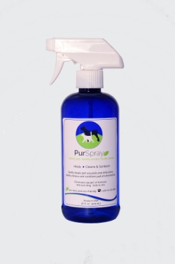PurSpray Pet Care cleans without toxic chemicals.