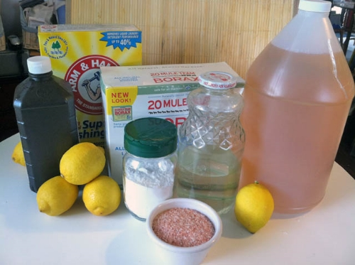 Homemade cleaning supplies--a healthy alternative!