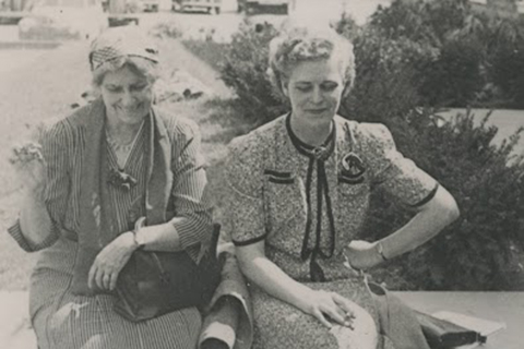 Lucy Sprague Mitchell (left)