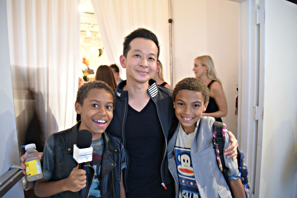Tristin and Tyler with Paul Frank Industries Creative Director, Stan Wan