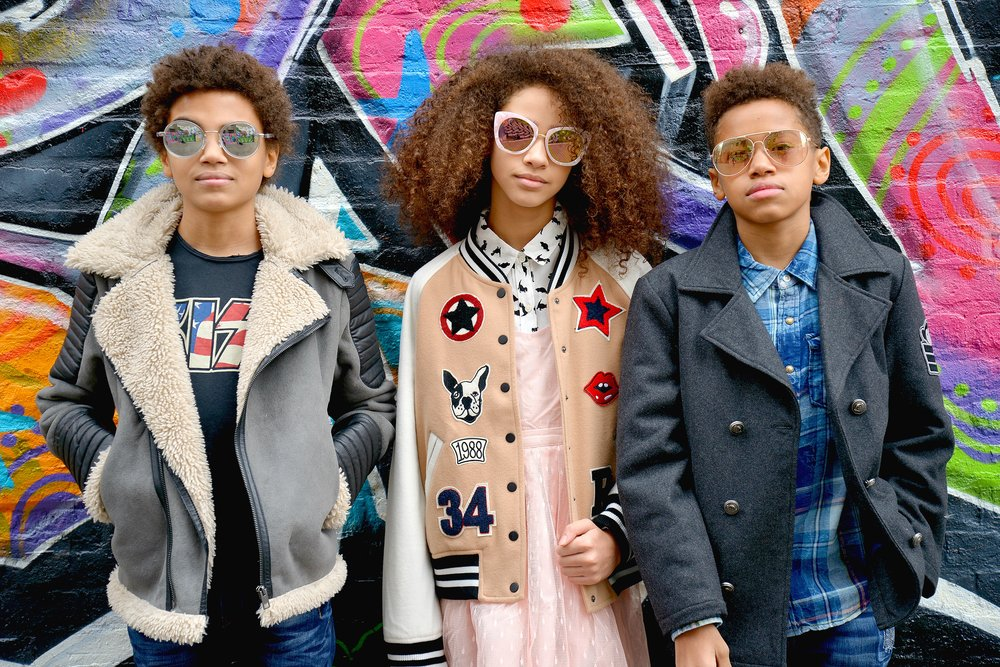 TRISTIN: Diesel jacket, VIngino Jeans MIA: Full Forever 21 Outfit TYLER:Appaman coat, Vingino top and jeans.