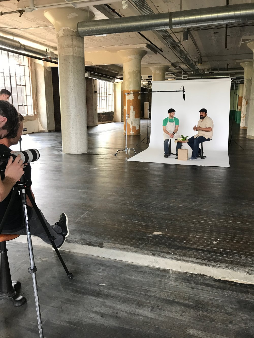 Video shoot BTS.