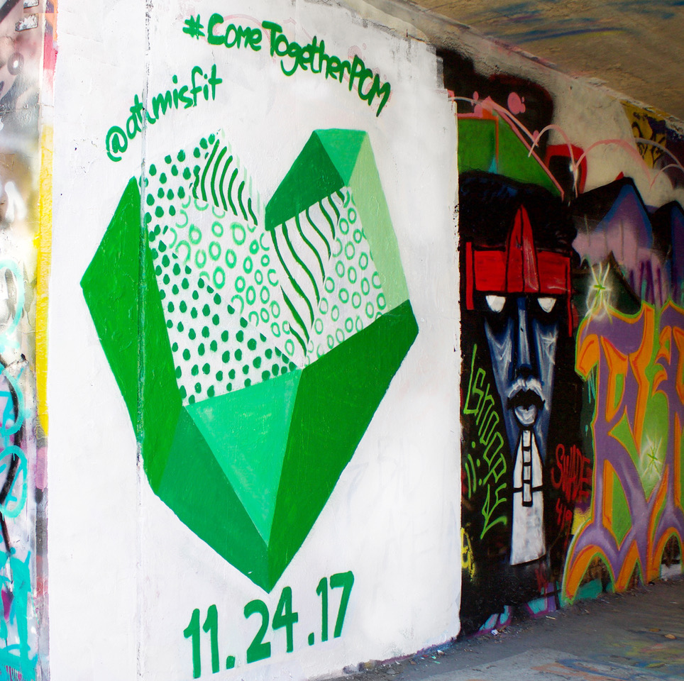Part of our guerrilla marketing campaign was graffiti in the Krog Street Tunnel.