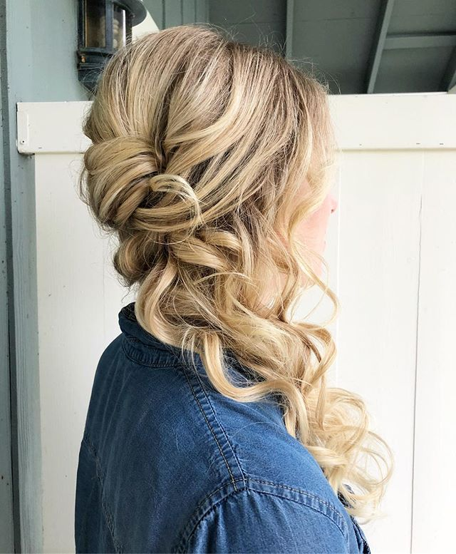 One of the bridesmaids from the same wedding. She had the best hair to work with. Was so much fun!!
