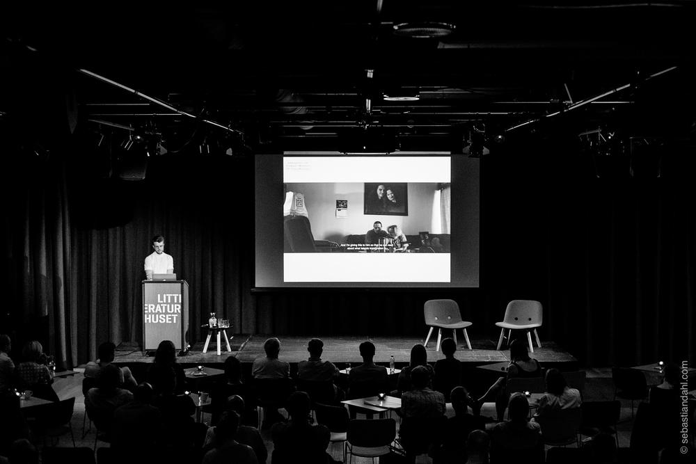 """Kyrre Lien snakket om sitt """"Nettkrigerne""""-prosjekt.Foto: Sébastian Dahl"""