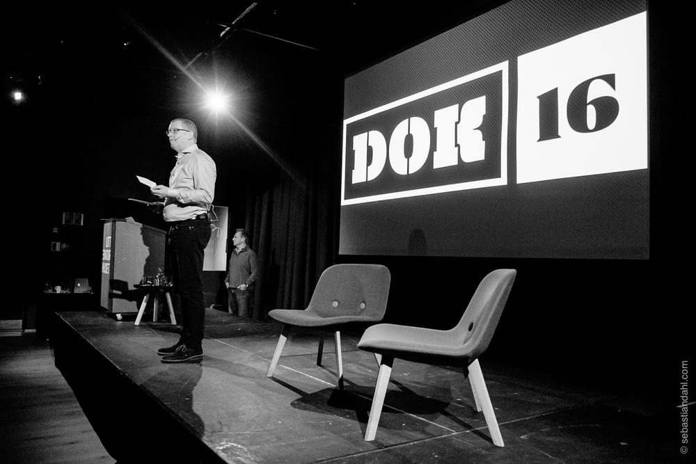 Finn E. Våga loset publikum elegant gjennom hele DOK 16. Foto: Sébastian Dahl