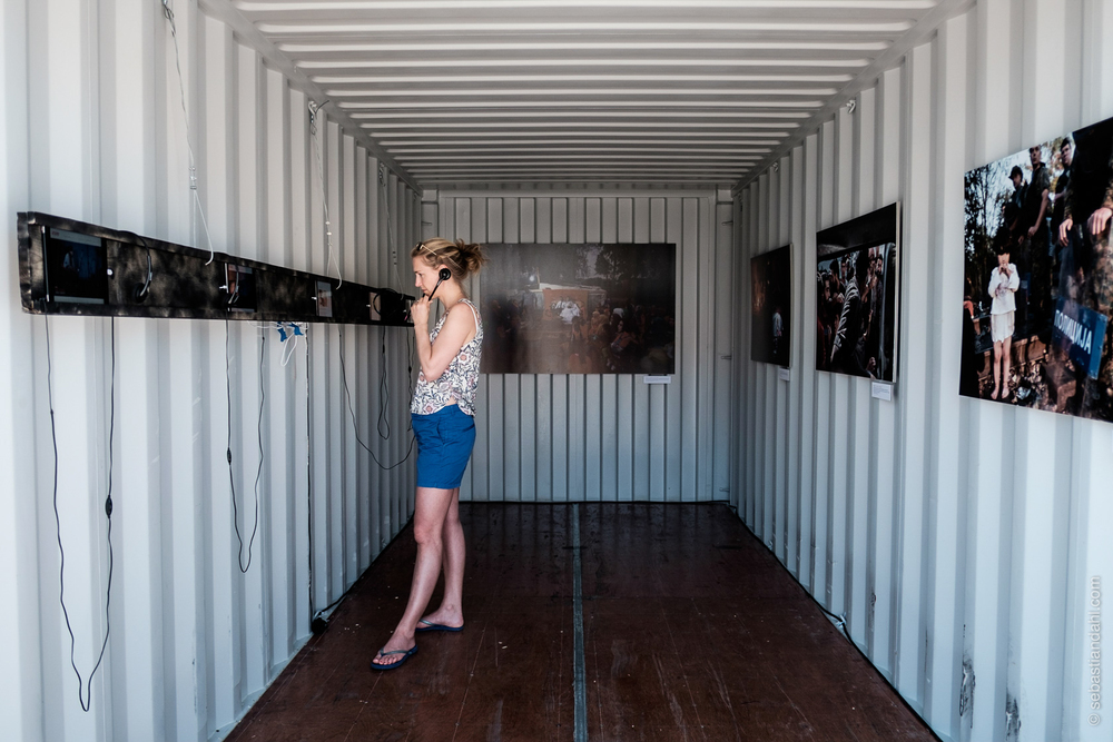 Containerutstillinga på Fisketorget.Foto: Sébastian Dahl