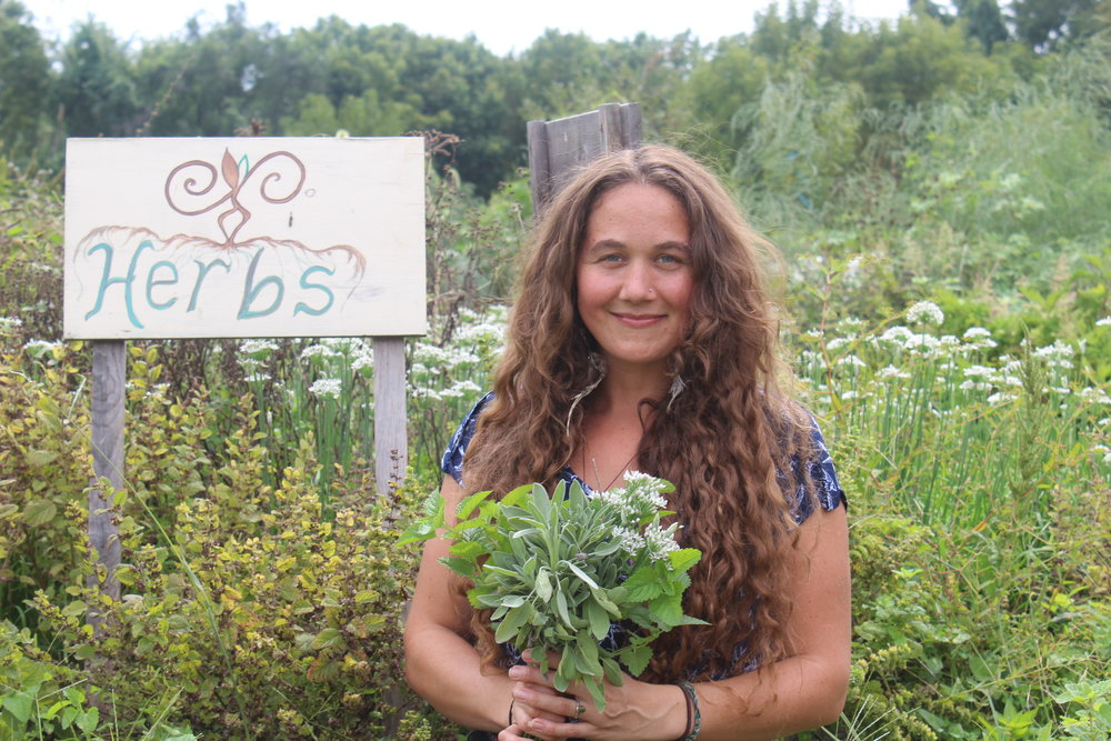 Farmer and herbalist, Crystal Stevens.