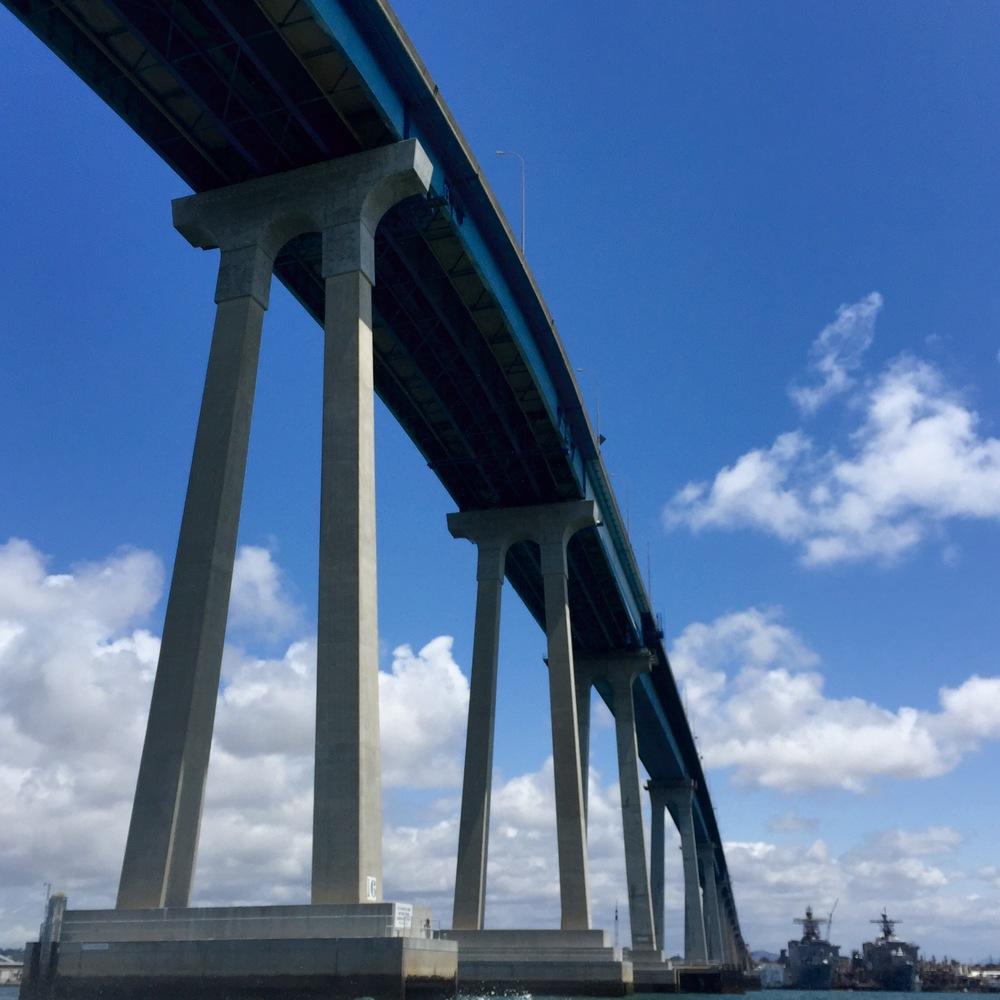 Coronado Bridge aboard Mai Tai San Diego Boat Charter