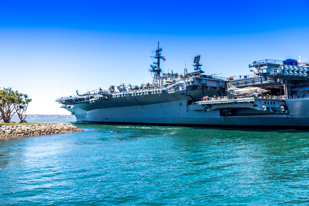 See the USS Midway from the water San Diego Bay
