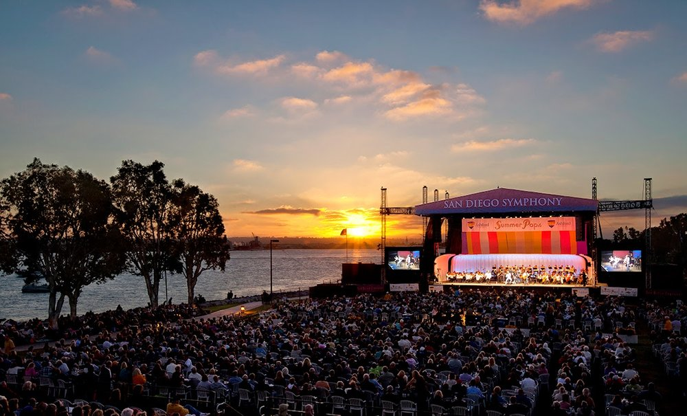 summer pops concert series emarcadero san diego