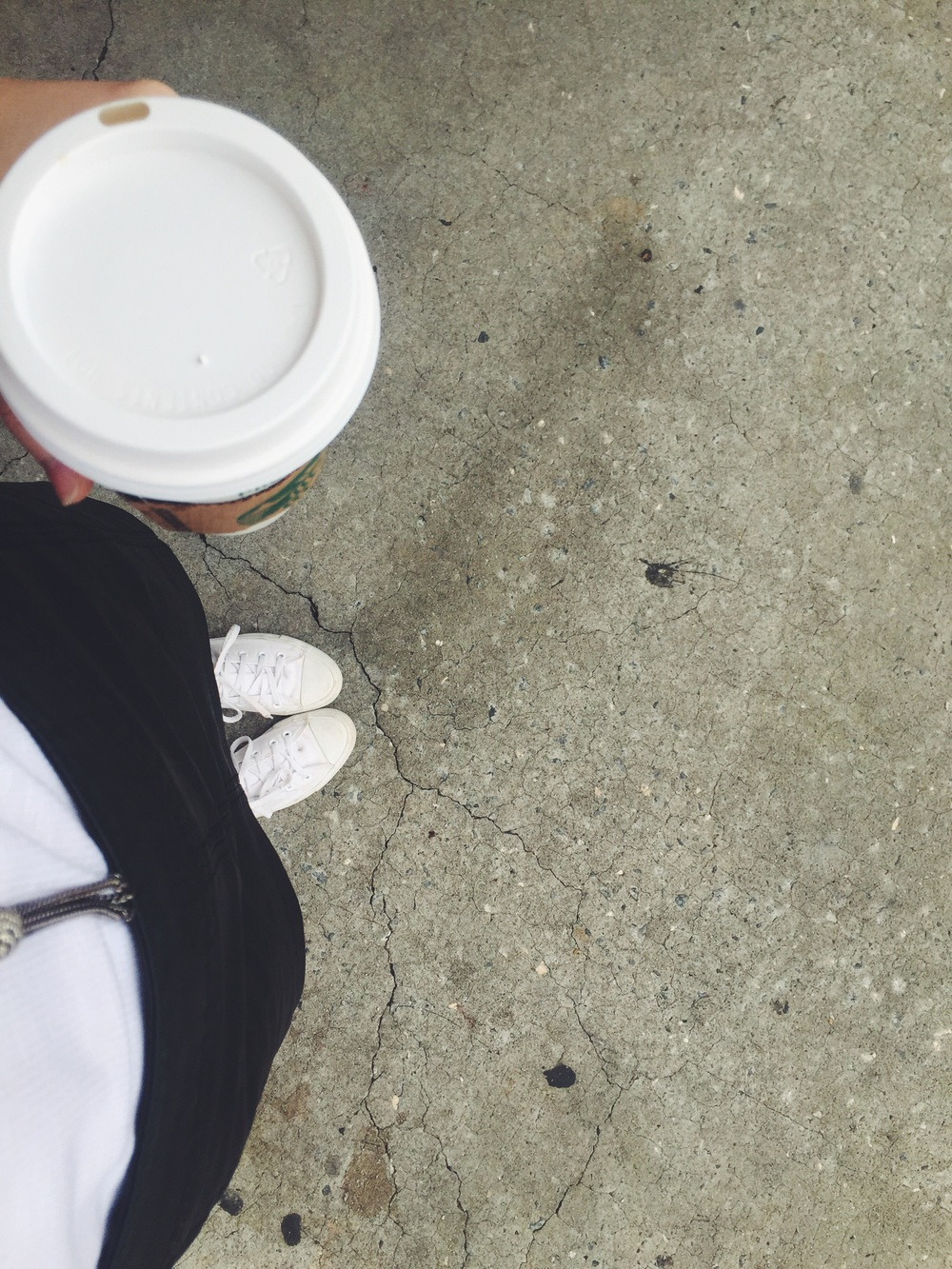 step 1 to changing to world: cute clothes & coffee  (or just sweatpants and coffee...)
