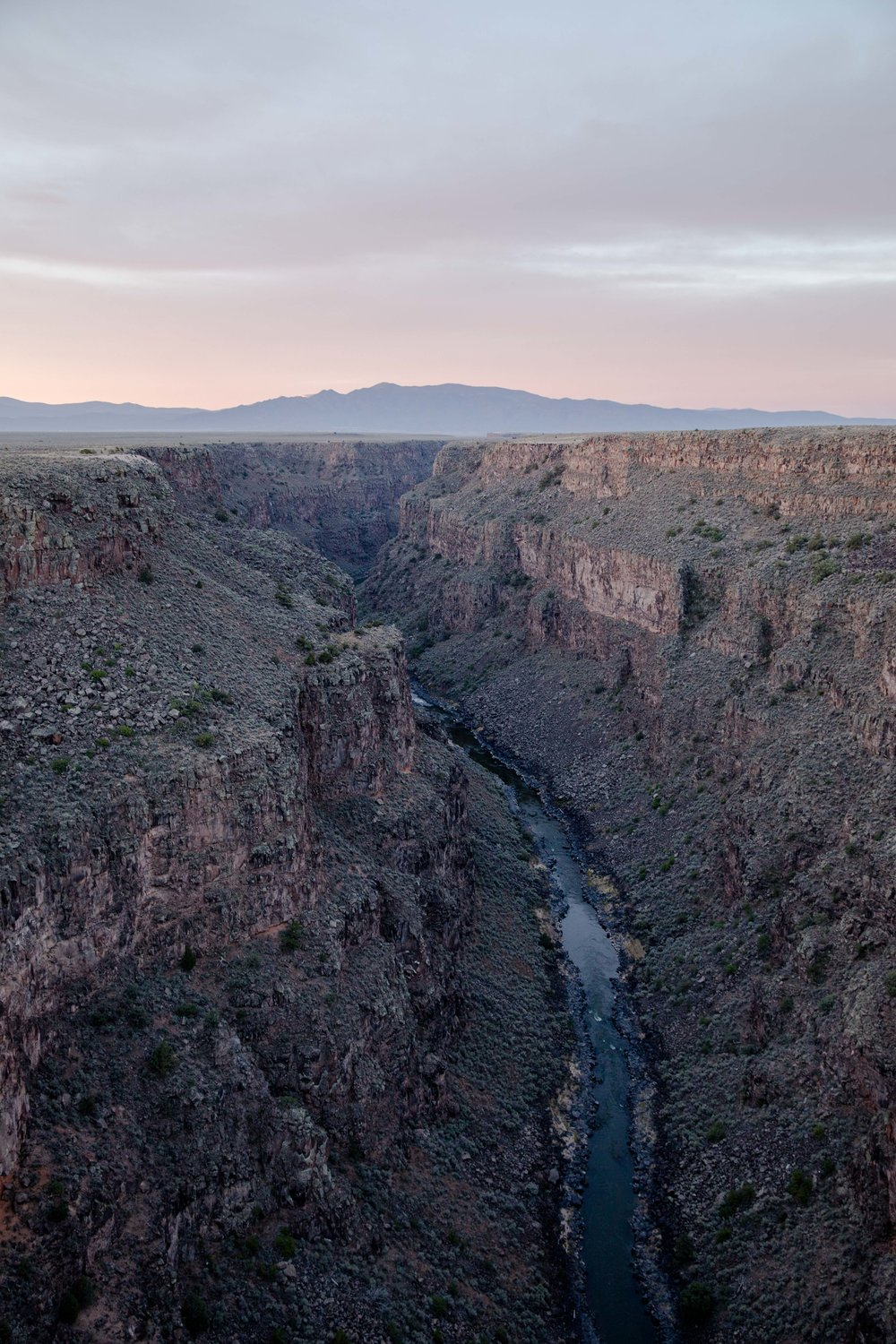 The Rio Grande Gorge, taken from the Gorge Bridge.