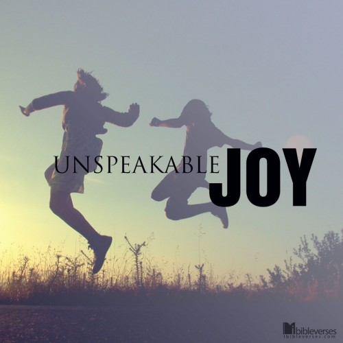 Finding Your Unspeakable Joy: Right There, Where You Are