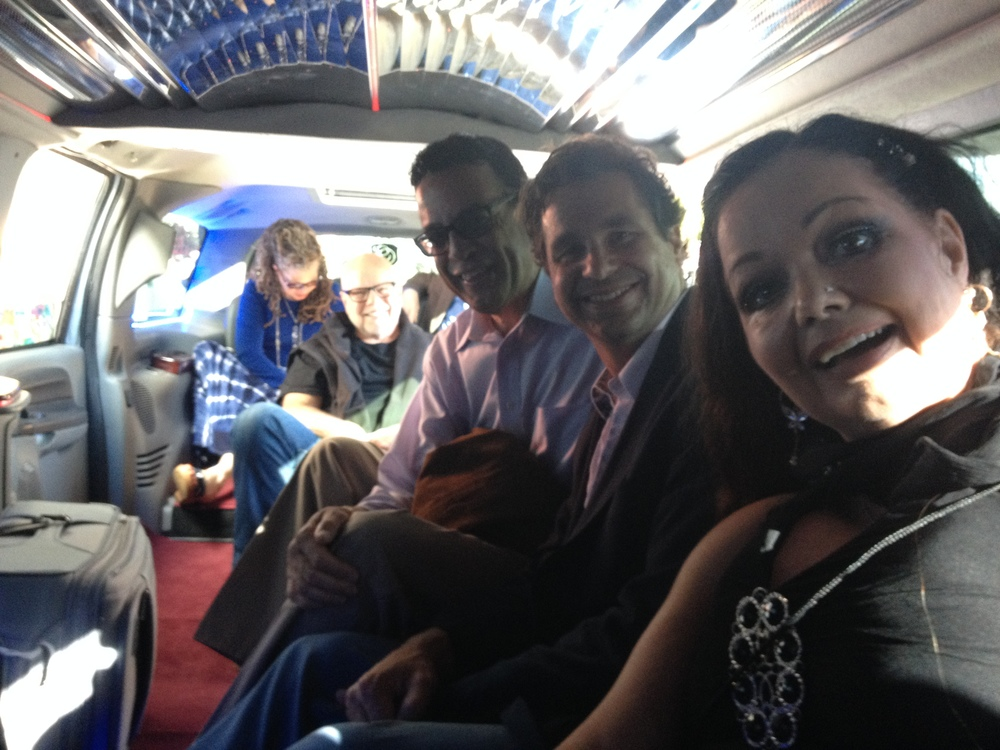 In the limo with the lovely Dr Joyce Keith Hargrove, the wise and gentle Thomas Bahler, the effervescent Gerry Foster, the irrepressible Croix Sather, and the fascinating Nicole Marie Whitney.