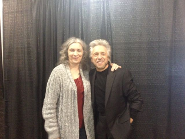 Gotta love those pics where you're talking, laughing and blinking at the same time...! But at least the brilliant and inspirational Gregg Braden looks great, as always!