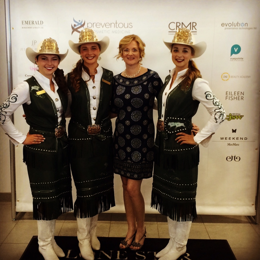 My dear friend, media strategist and radio personality Christina Rowsell with Calgary's 2015 Stampede Royalty. Such a lot of beauty all in one place!