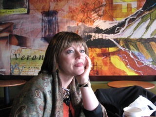 Photos courtesy of Flo Shustack. Here she is with a wig, just as pensive as she is beautiful.
