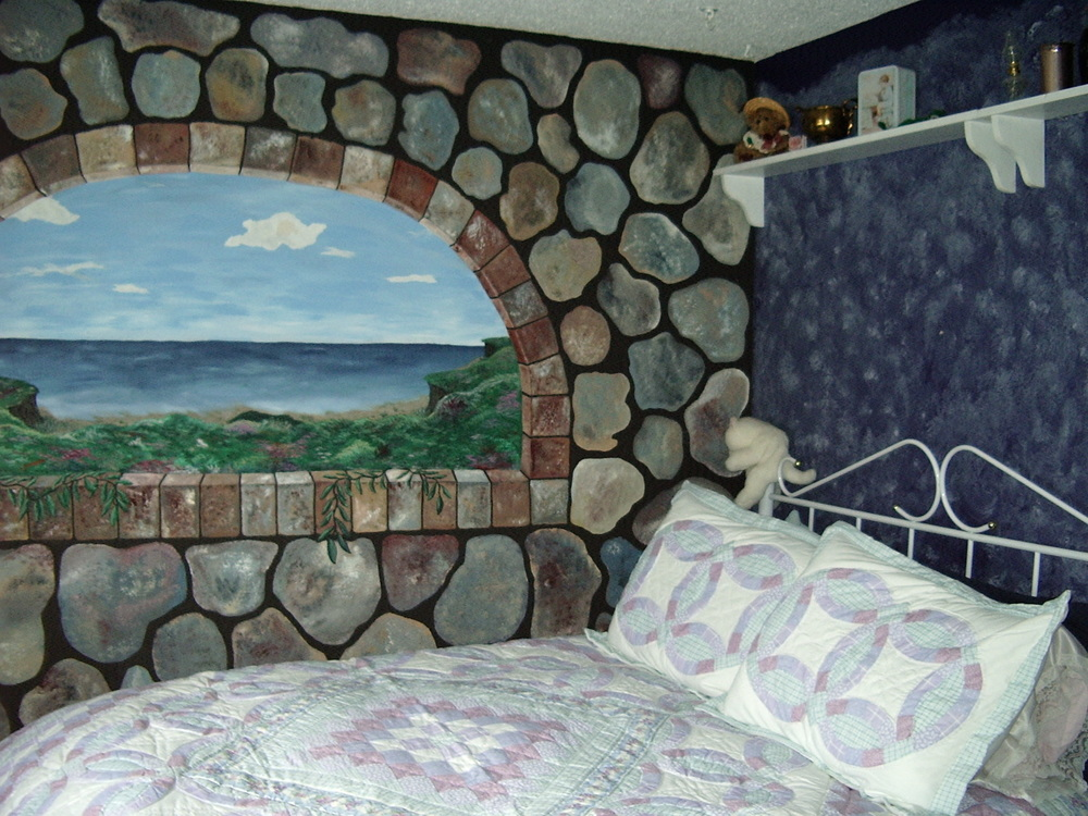 This mural was my first painting. Ummm, go big or go home?! LOL!