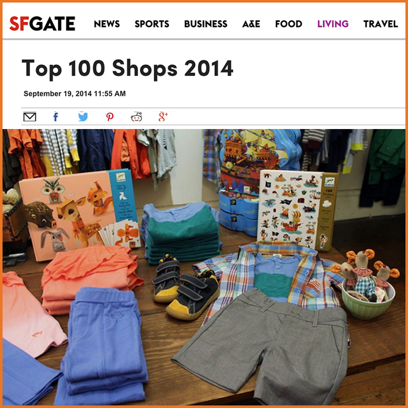 SF GATE: Top 100 Shops 2014