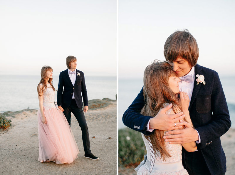 Santa Cruz beach wedding pictures