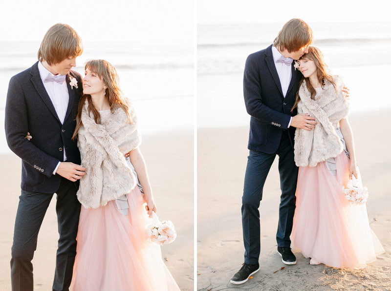 Santa Cruz beach wedding photos