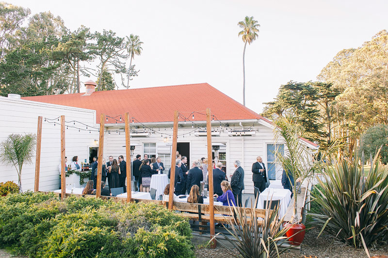 Presidio social club wedding reception