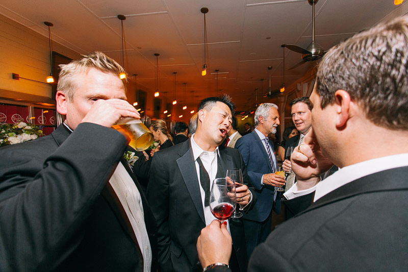 Presidio social club wedding reception photos