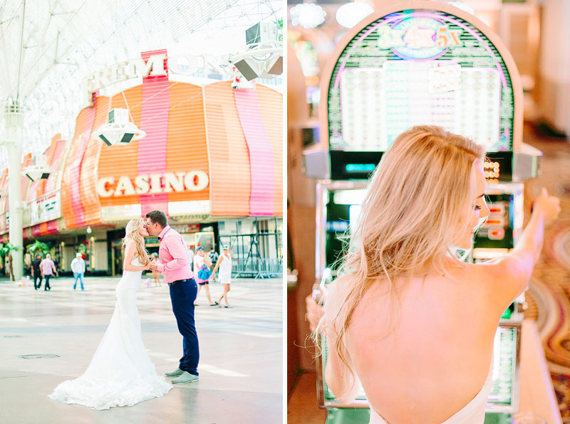 Las Vegas fremont casino wedding photos