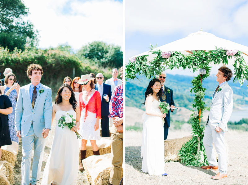 Wedding Ceremony Photos Mann Family Farm Bolinas