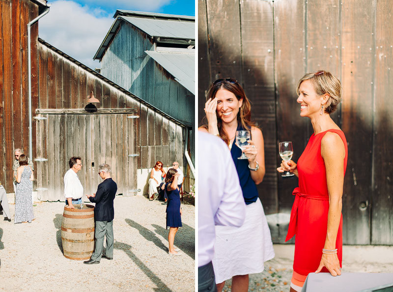 Mann Family Farm cocktail hour detail photos