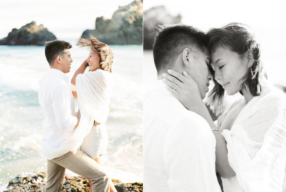 Big Sur Engaged Couple