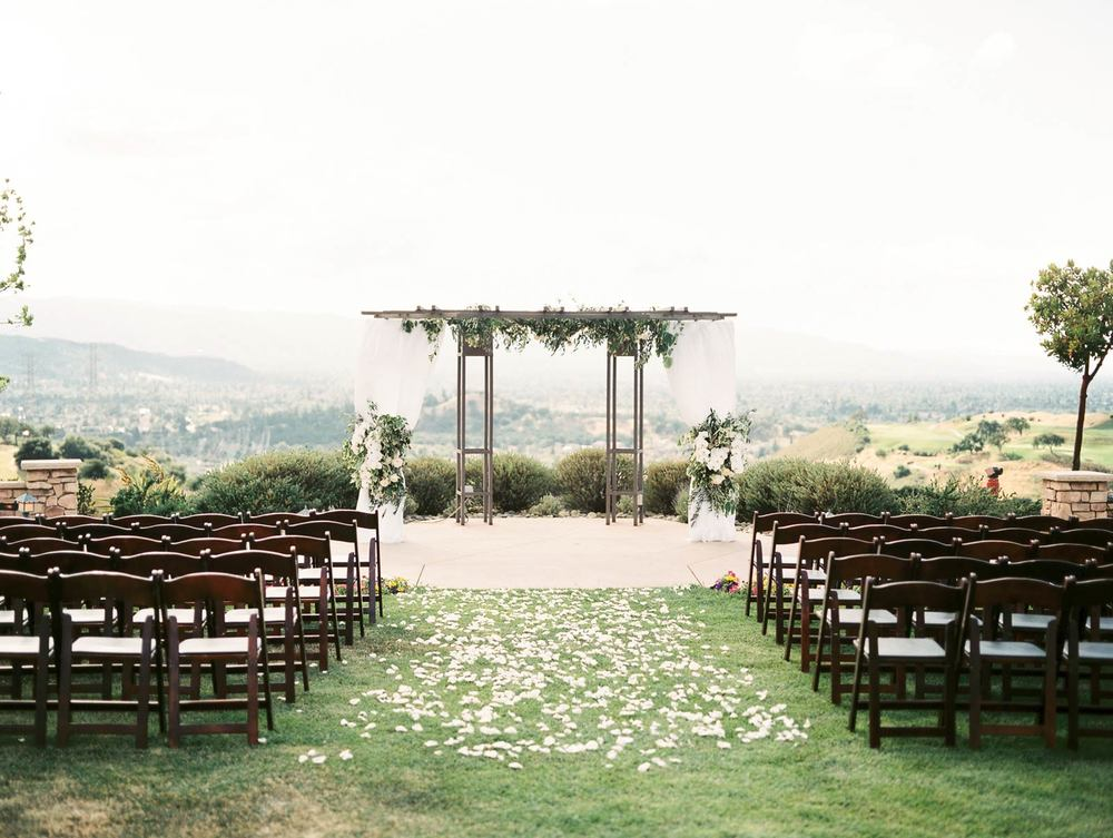 Wedding ceremony Boulder ridge golf course