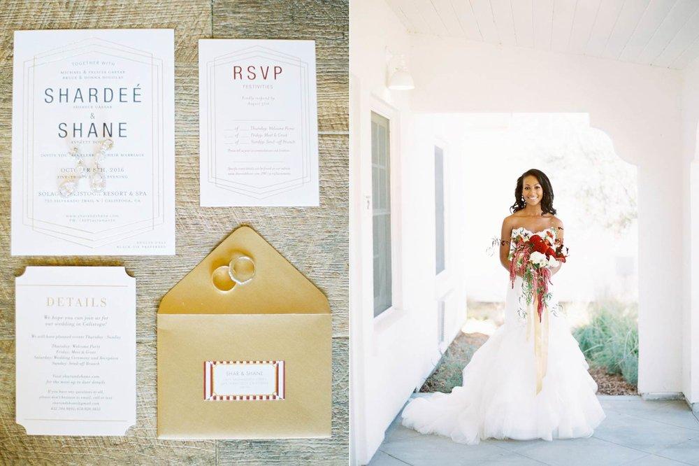 Solage Calistoga film wedding photographer