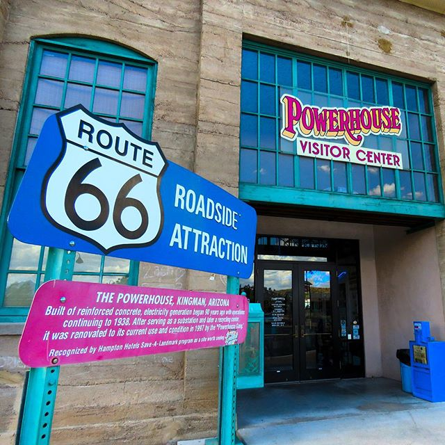 The famous Powerhouse Visitors Center in Kingman, Arizona. A lot of history here! A great spot for tourists and locals alike! http://www.gokingman.com #saveroute66
