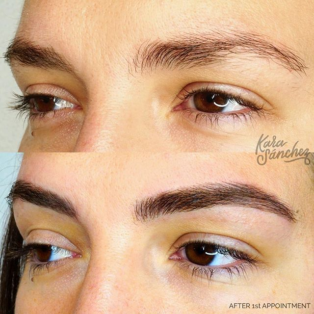 When your brow doesn't realize it's full potential, I can help! ☁️ Fresh Microblading Fluff ☁️