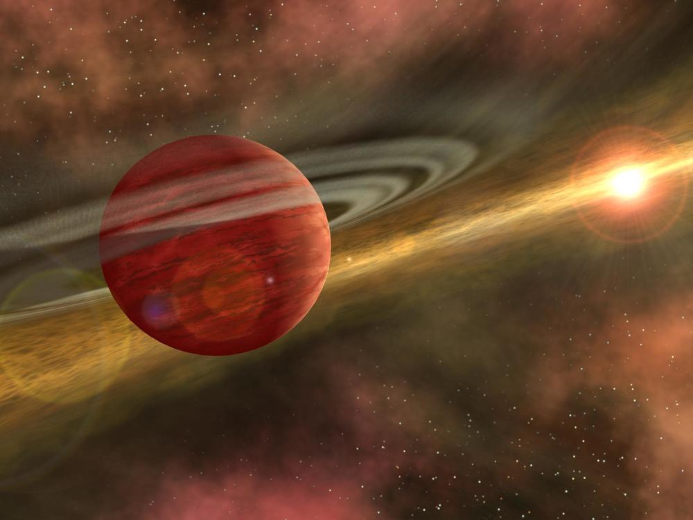 Dr. Katherine Kretke  investigates how planets are formed with computer models. Her new research had a surprising result— that pebbles play a key role in forming terrestrial planets like Earth and Mars. Image: artist's conception of planetary formation (NASA/JPL-Caltech).