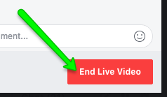 Click the red button when you're done.