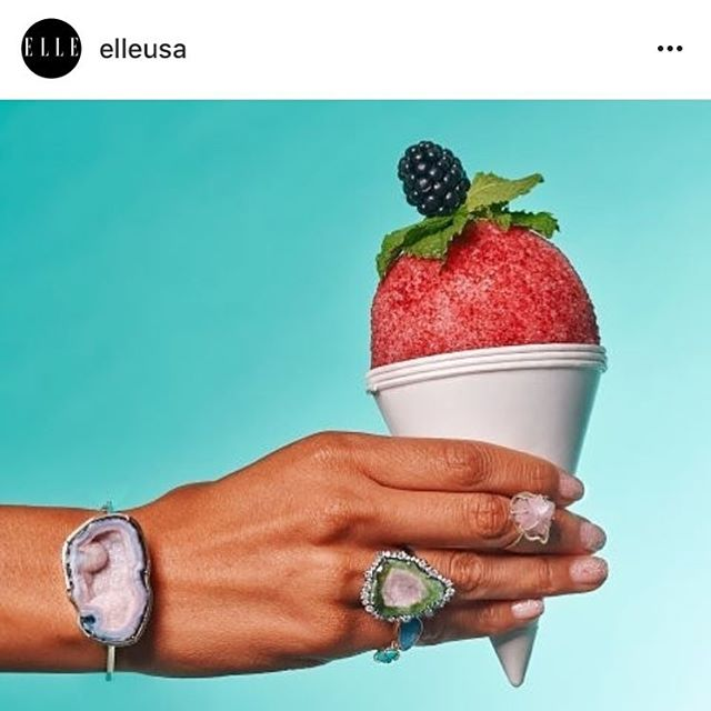 Annnnnd we're back. Cheers to Summer, people. It's ice shaving season.  Regram of our Blackberry Mint, throwback to the @elleusa shoot last summer. 💅🏼🔥