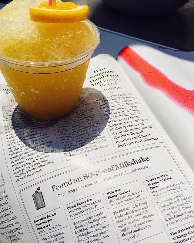Boooooozy beach day! Thanks for the love @nymag