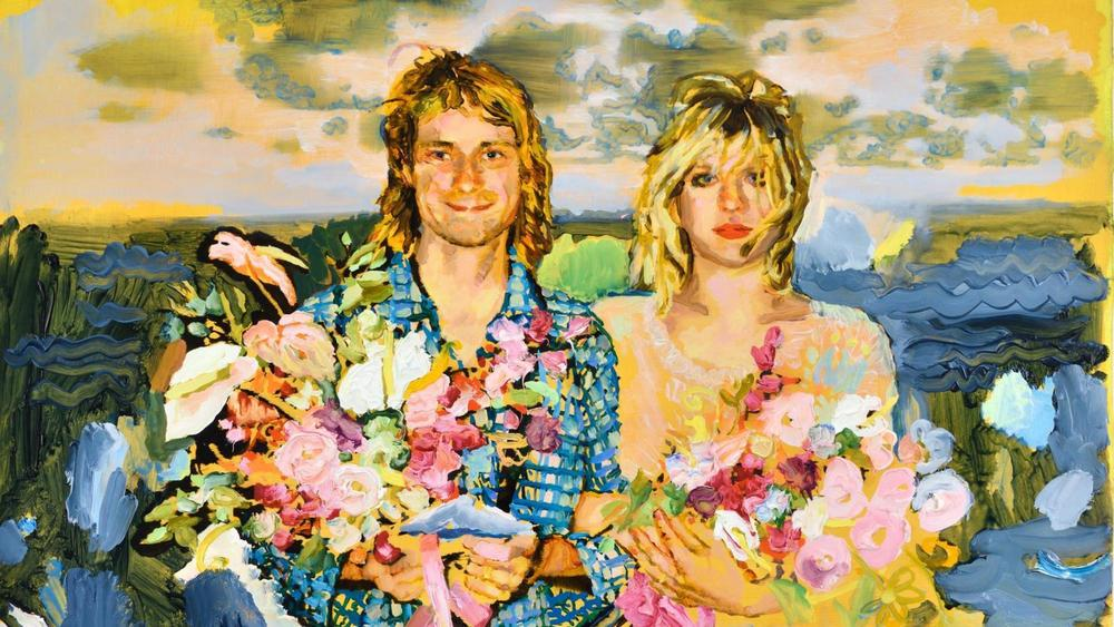 painting of Kurt Cobain & Courtney Love by Ida Tursic & Wilfried Mille; via Almine Rech Gallery & i-D