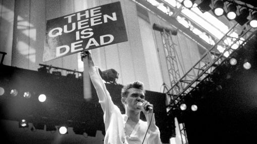 Morrissey live with the Smiths in Manchester on July 19th, 1986. Read why the band's hard-rocking, heavy-emoting 'The Queen Is Dead' sums up all their strengths. photo by  Ian Tilton /Camera Press/Redux; via  Rolling Stone