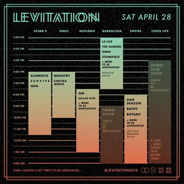 @stonefieldband will be playing Austin's @levitation festival on Saturday, April 28 alongside @laluzband, @__thegarden__, and many more || You don't want to miss this epic lineup!