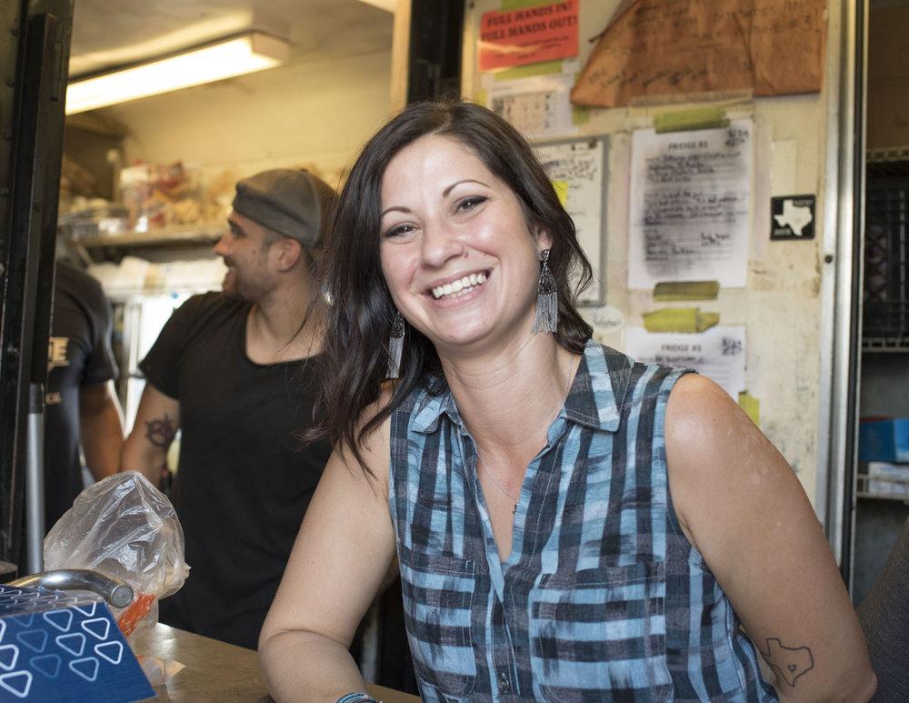 Modesty Vidal at Valentina's Tex Mex BBQ: Photograph by Wyatt McSpadden